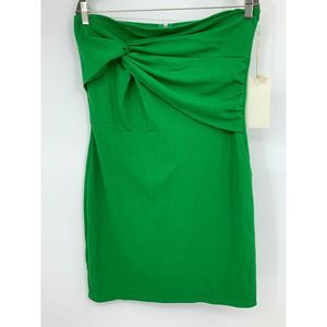 Alythea dress large green body con knotted top